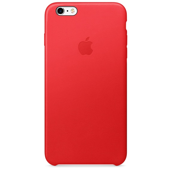 Apple iPhone 6s Plus Leather Case, Red, MKXG2ZM/A