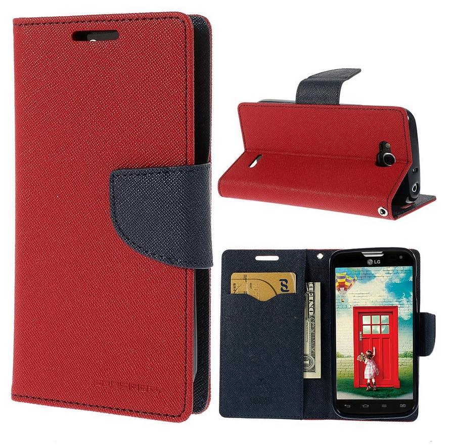 Flipové pouzdro pro Sony Xperia M4 Aqua Fancy Diary červeno/modé