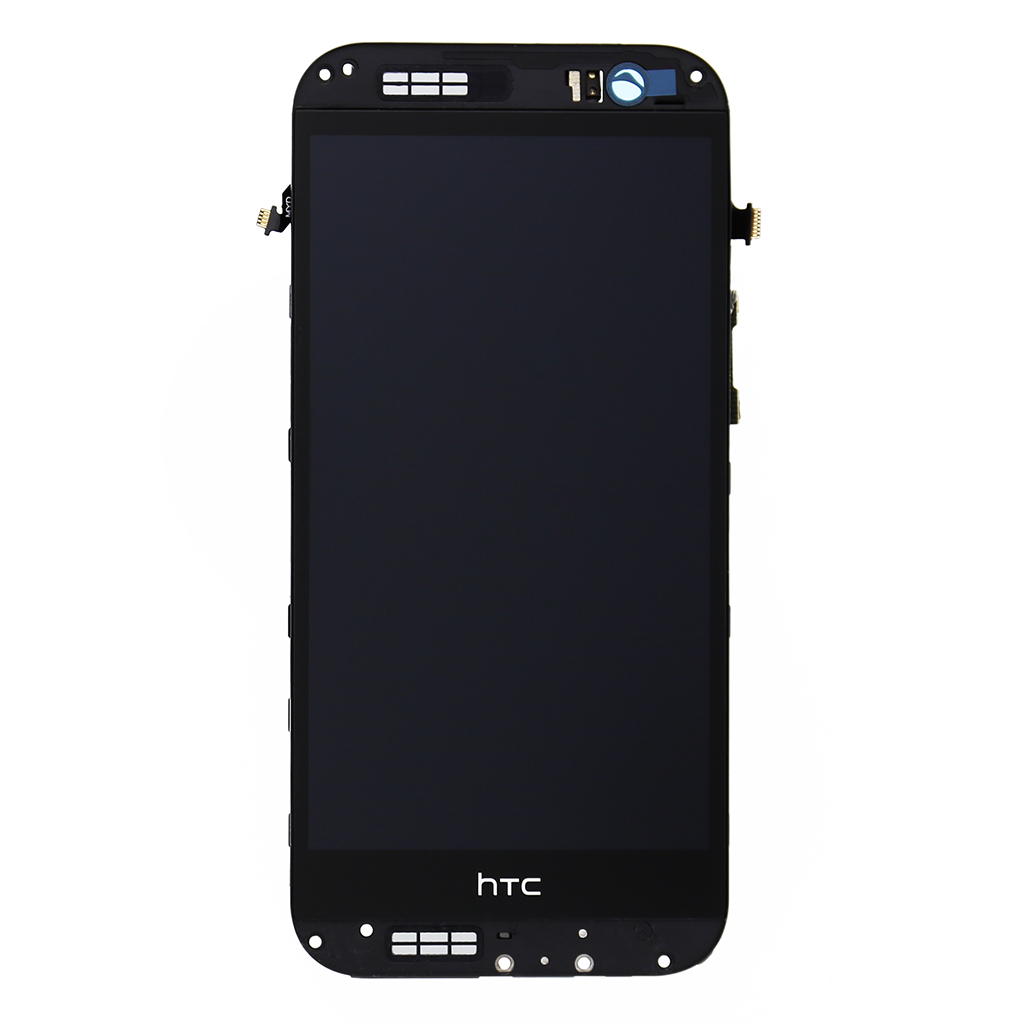 LCD display + dotyk. deska + př. kryt pro HTC ONE2 M8, šedá