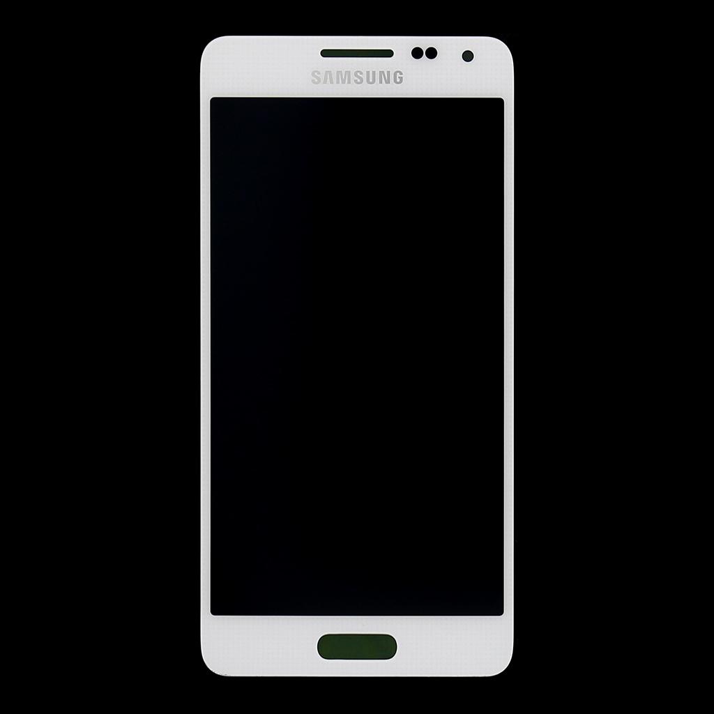LCD display + dotyk. deska pro Samsung Galaxy Alpha (G850), bílá