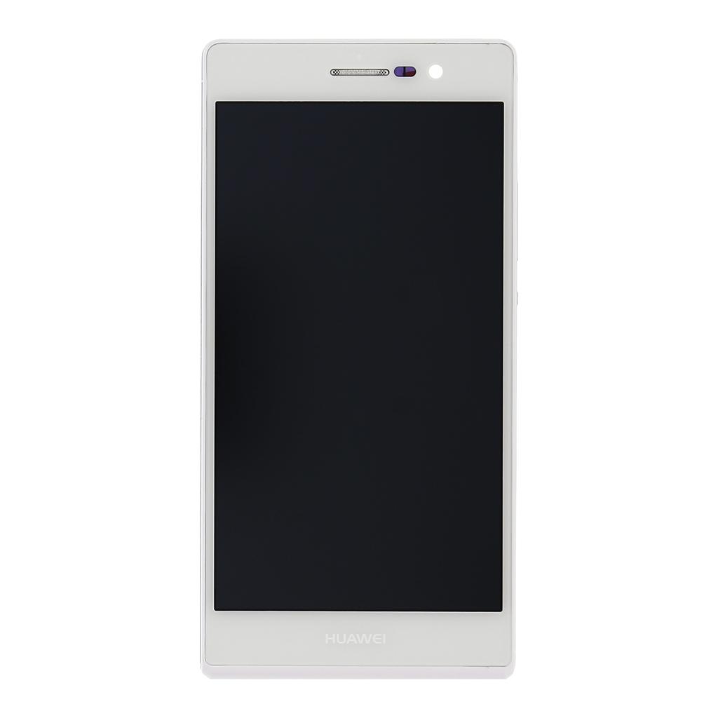 LCD + dotyk + přední kryt pro Huawei P7, white OEM