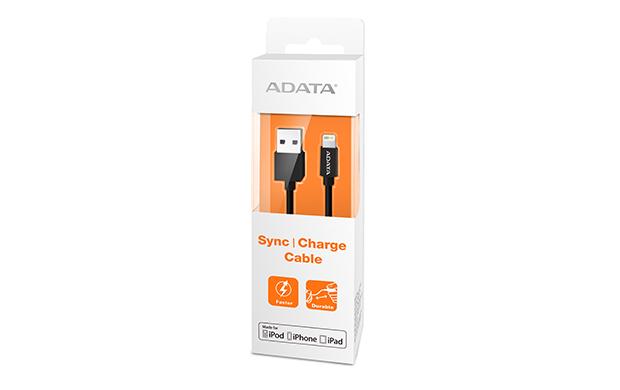 ADATA Lightning kabel USB A 2.0 plastový černý 1m