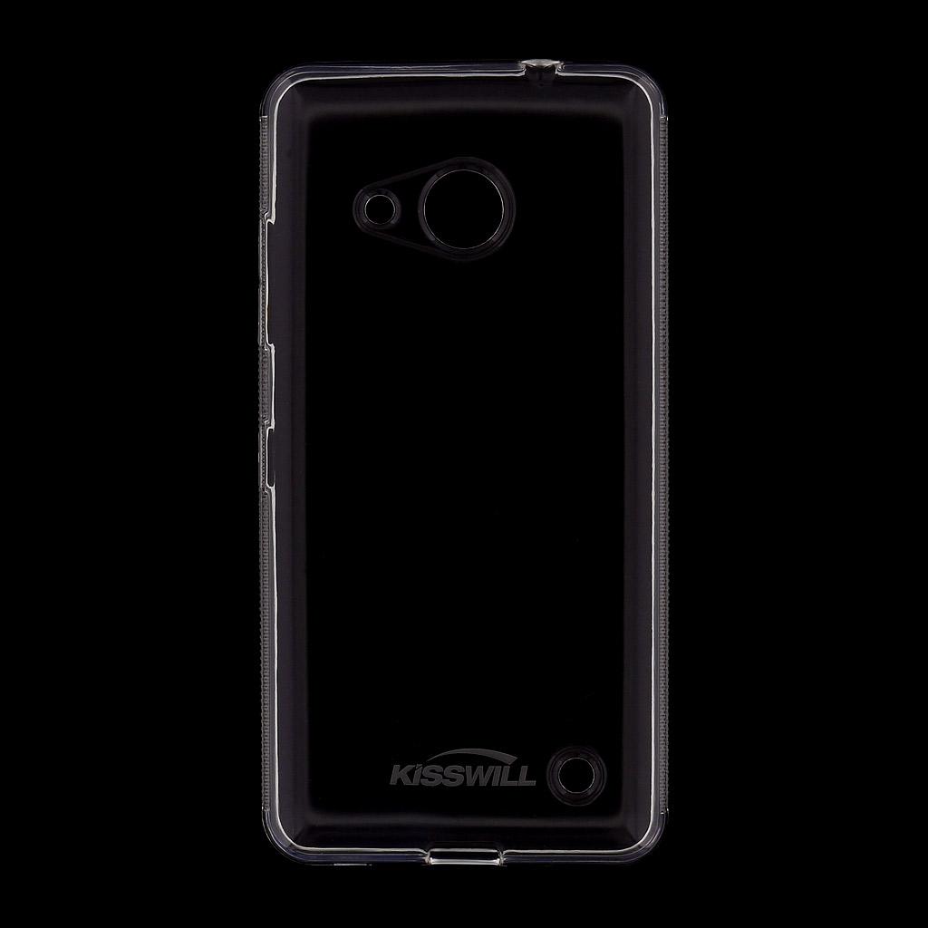 Silikonové pouzdro Kisswill pro Nokia Lumia 650, průhledné