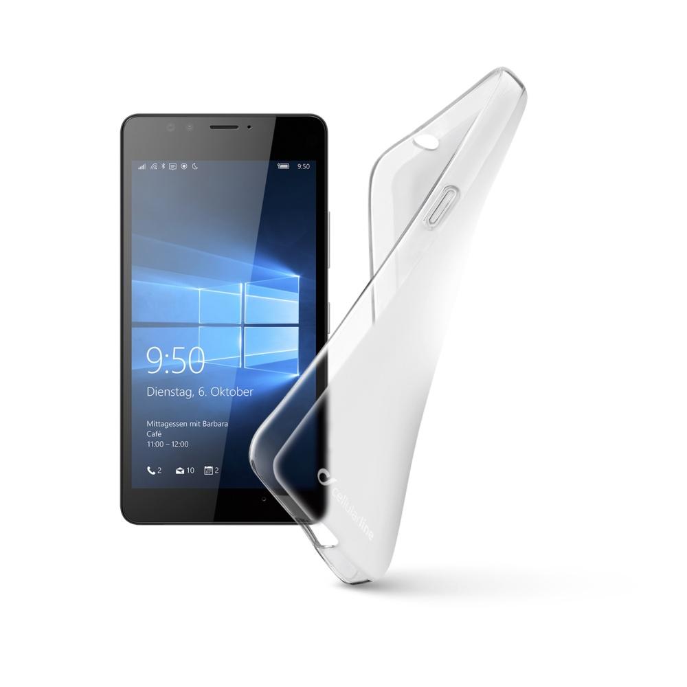 Cellularline SHAPE silikonové pouzdro Microsoft Lumia 950 bezbarvé