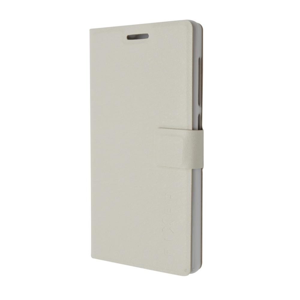 FIXED pouzdro flip na mobil Lenovo Vibe X3 bílé