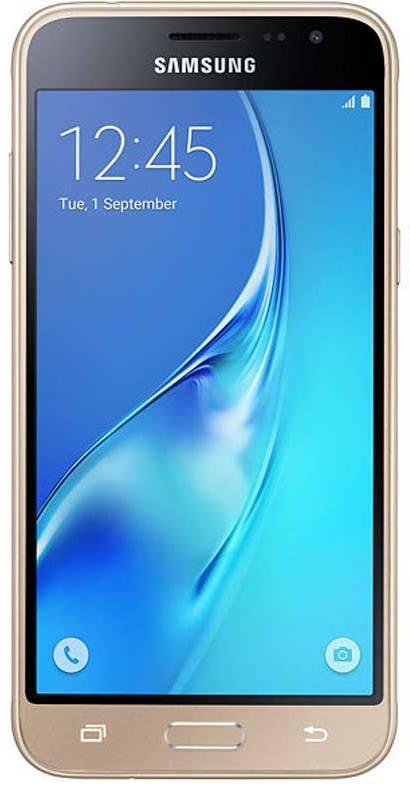 LCD display + dotyková deska pro Samsung Galaxy J3 (2016) J320, zlatá (Service Pack)