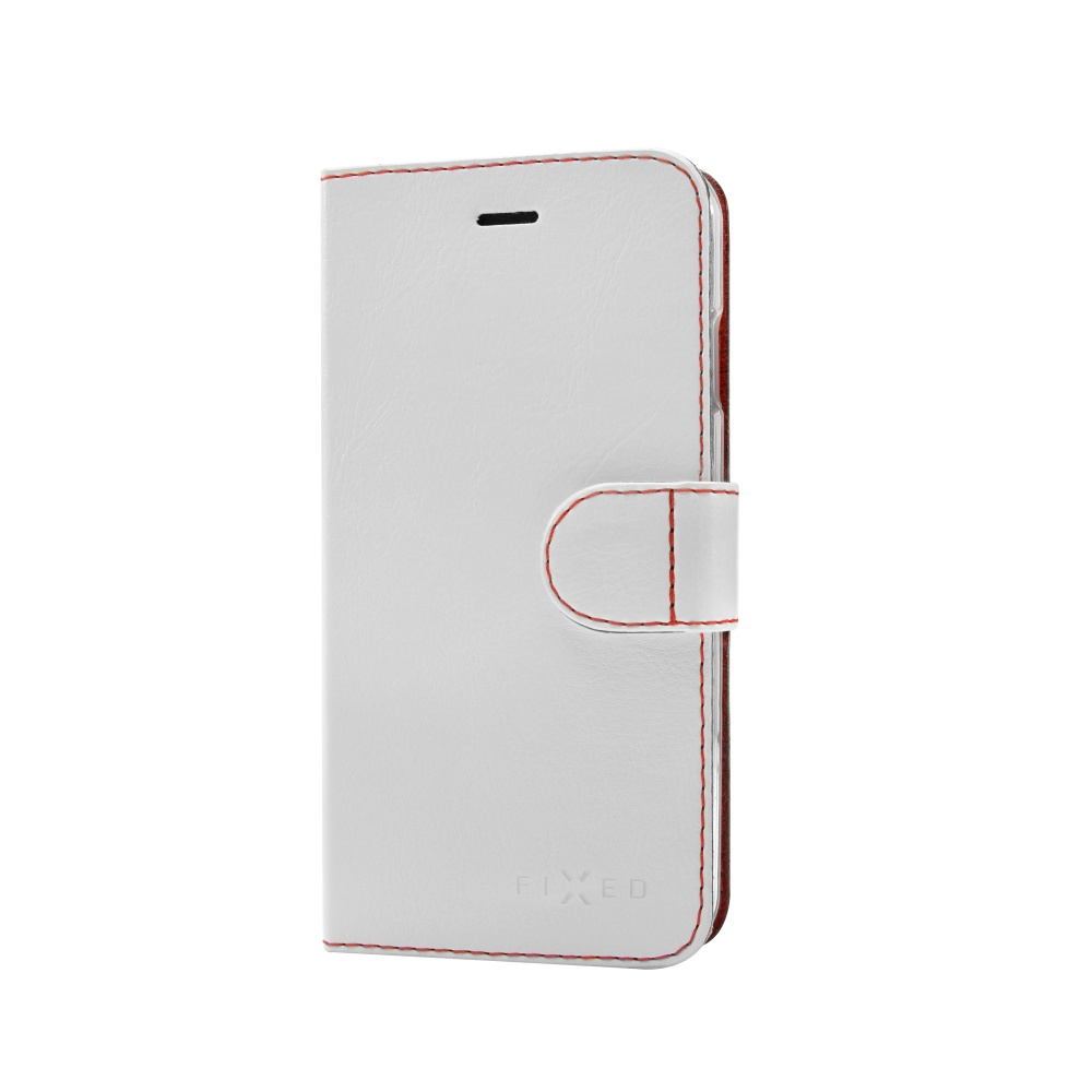 FIXED FIT flipové pouzdro na mobil Doogee X6/X6 Pro bílé