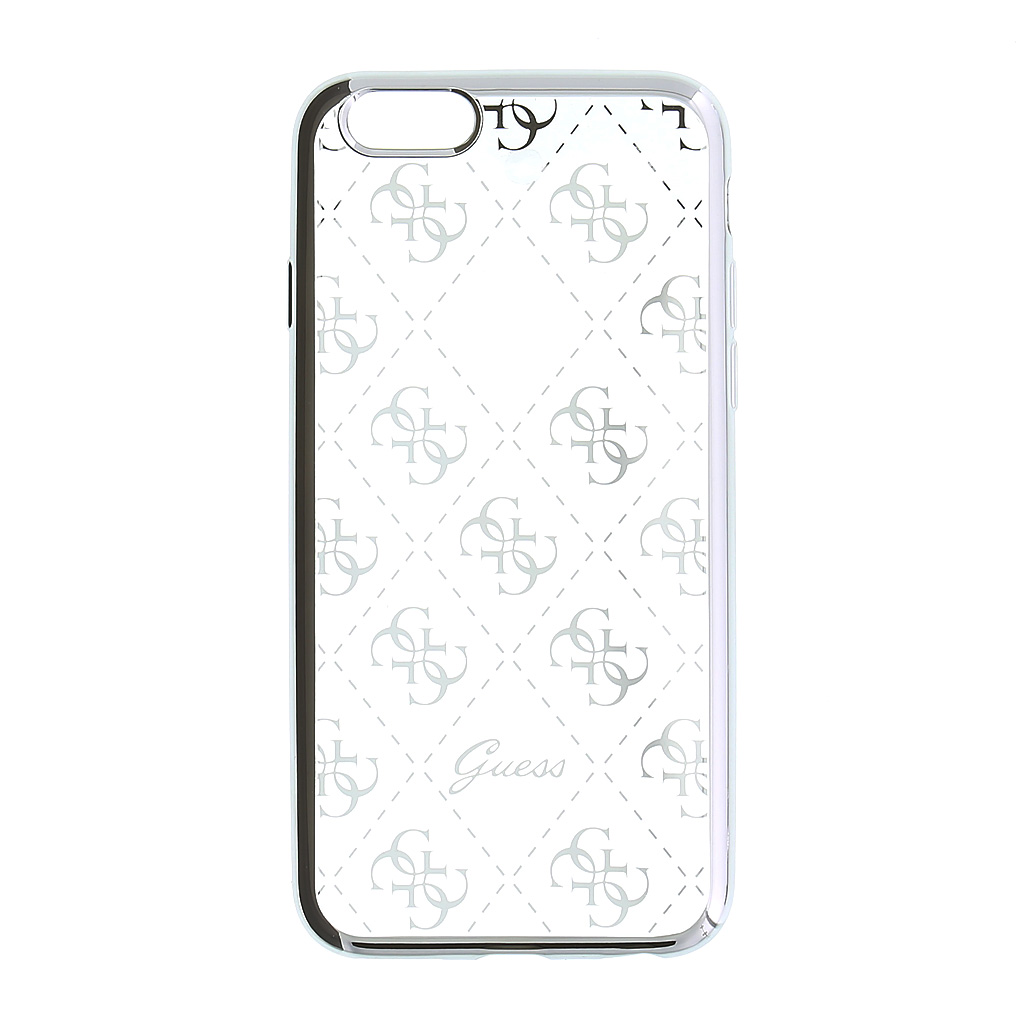 Guess 4G GUHCSETR4GSI silikonové pouzdro pro Apple iPhone 5/5S/SE Silver