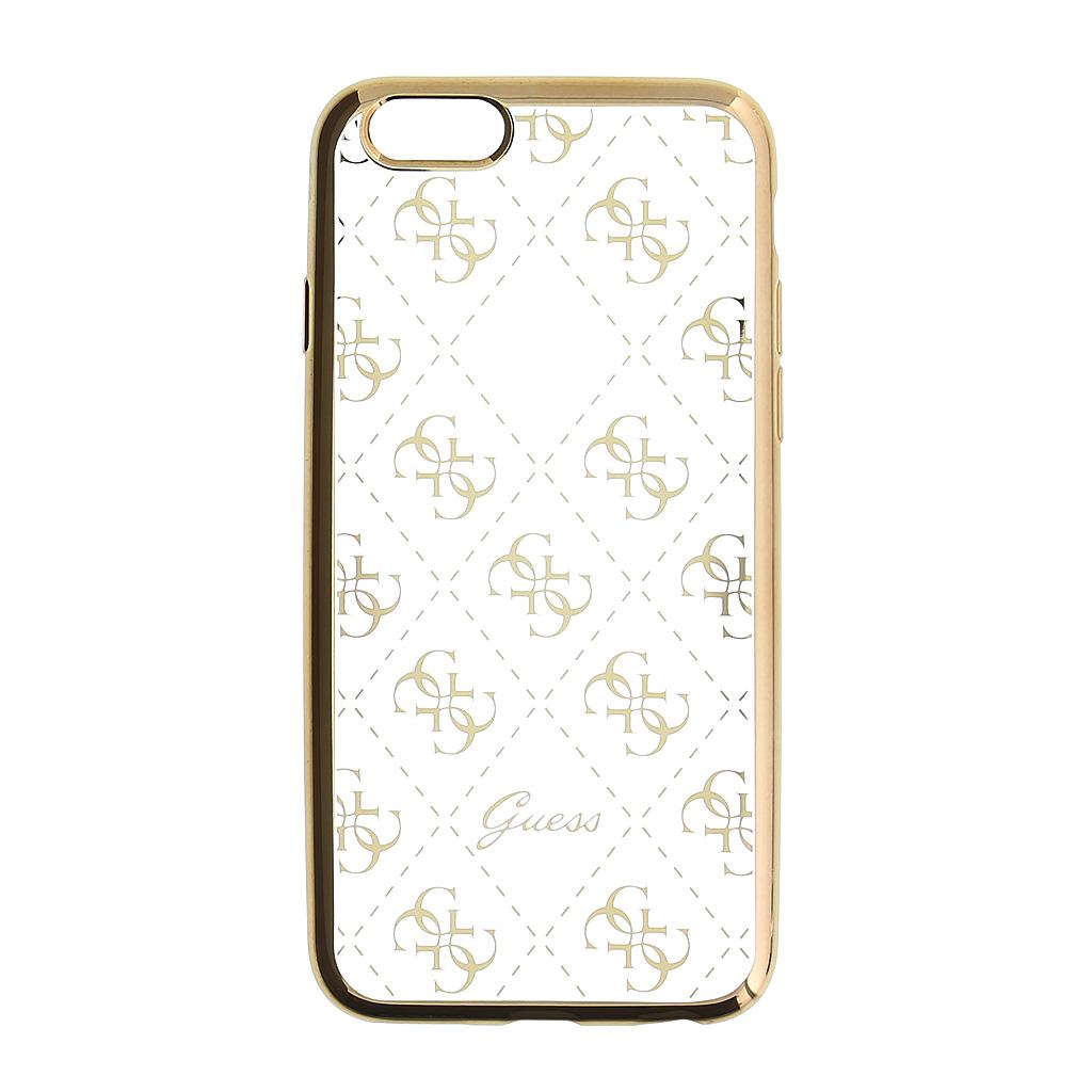Guess 4G GUHCP6TR4GG silikonové pouzdro pro Apple iPhone 6/6S Gold