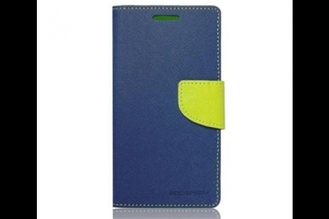 Mercury Fancy Diary Folio flipové pouzdro pro Huawei Y3 II, modré/limetkové