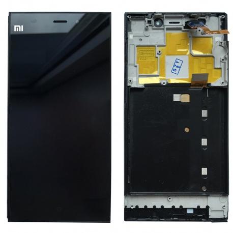 LCD + dotyk + rámeček pro Xiaomi Mi3, black OEM