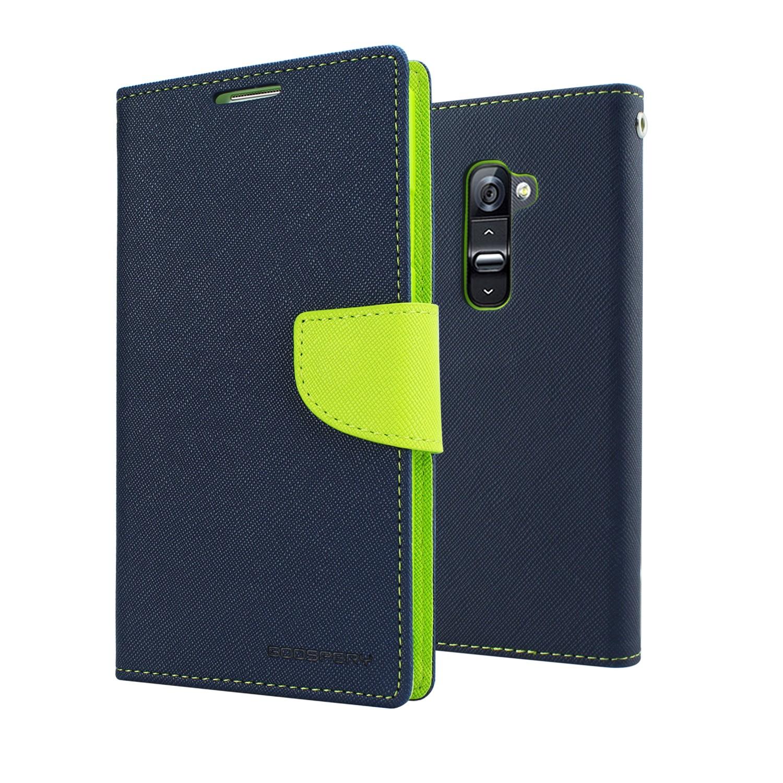 Mercury Fancy Diary flipové pouzdro Samsung Galaxy J1 2016 modré/limetka