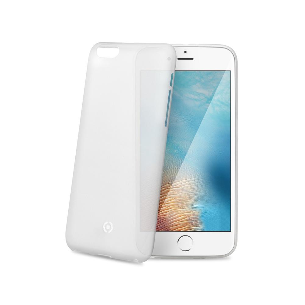 Silikonové pouzdro CELLY Frost pro Apple iPhone 7, bílé