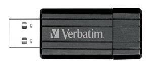 Flash disk Verbatim Store 'n' Go PinStripe 64GB USB 2.0 Black