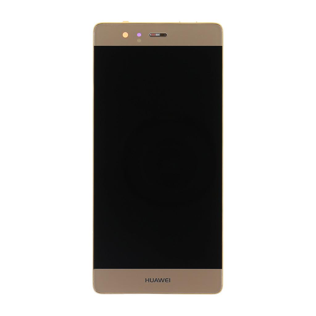 LCD displej + dotyk. deska + př. kryt pro Huawei P9, zlatý