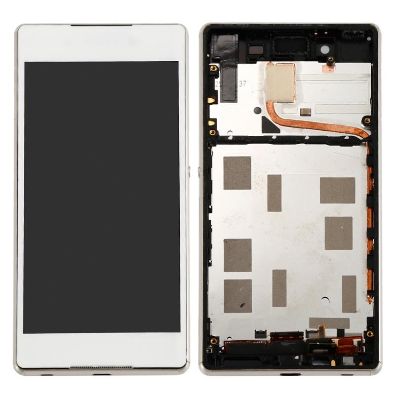 LCD display, dotyková deska a rámeček pro Sony Xperia Z4 White