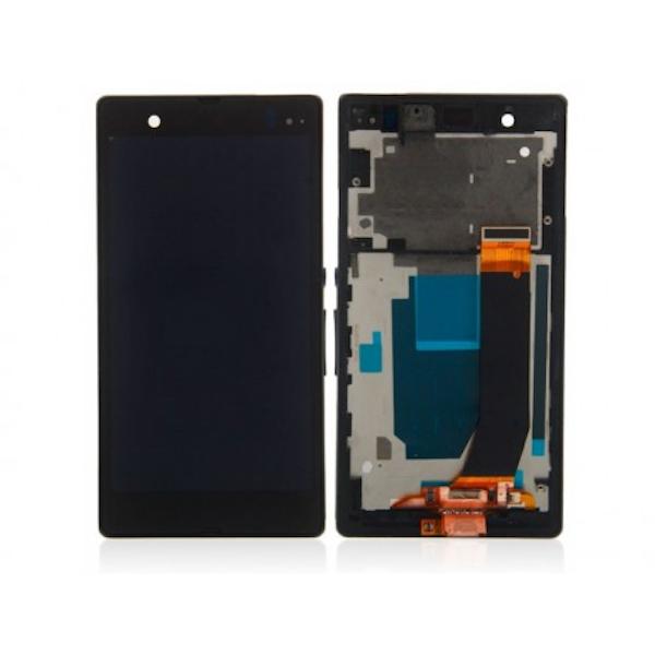 LCD display, dotyková deska a rámeček pro Sony Xperia V Black