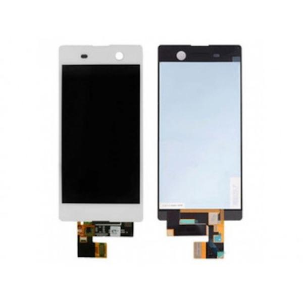 LCD display, dotyková deska a rámeček pro Sony Xperia M5 White