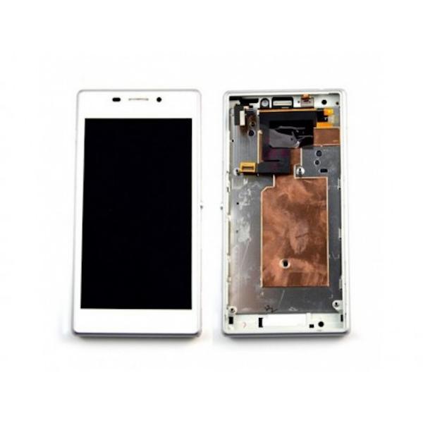 LCD display, dotyková deska a rámeček pro Sony Xperia M2 White