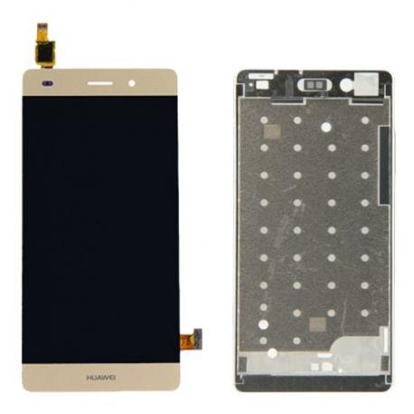 LCD + dotyk + rámeček pro Huawei P8 lite, gold OEM