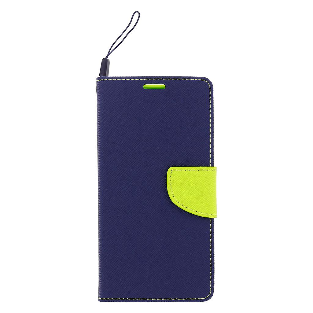 Fancy Diary flipové pouzdro Huawei Y6 II modré/limetka