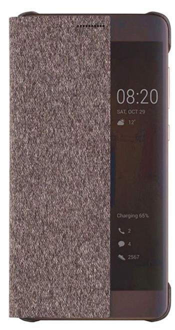 Huawei Original S-View flipové pouzdro Huawei P10 hnědé