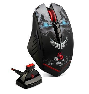 A4tech BLOODY R80A, bezdrátová herní myš, 4000DPI, černá, CORE 3