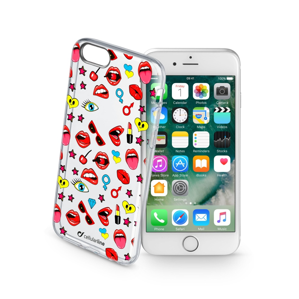 Pouzdro Cellularline STYLE pro Apple iPhone 7, motiv POP
