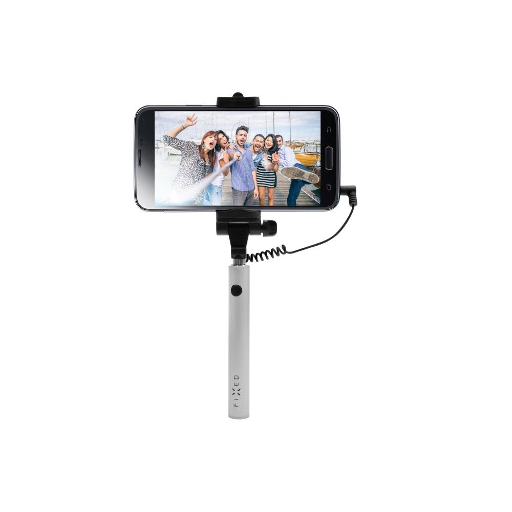 Kompaktní selfie tyč FIXED Snap Mini, silver