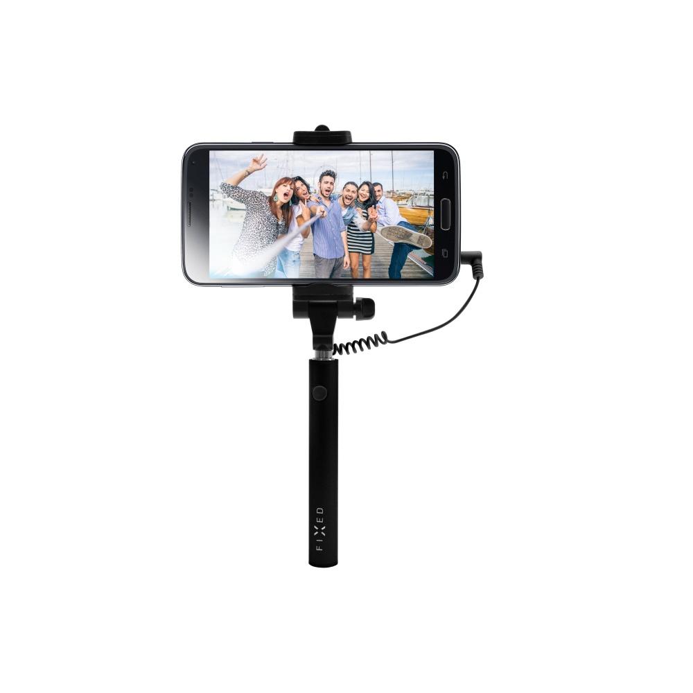 Kompaktní selfie tyč FIXED Snap Mini, black