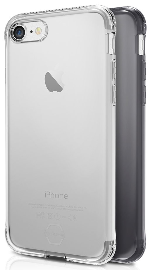 ITSKINS Zero Gel 1m Drop pro iPhone 7, Black+Clear