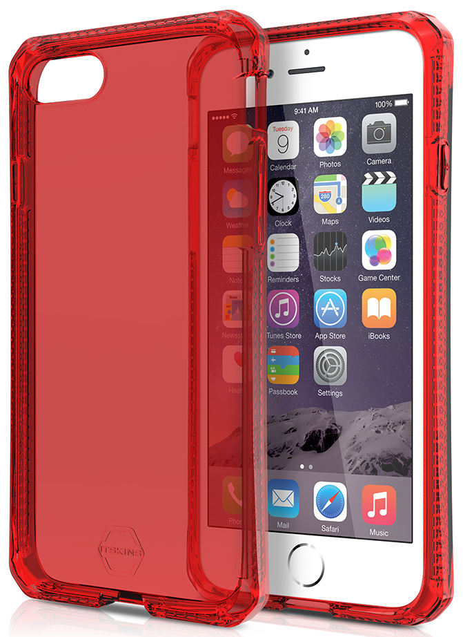 ITSKINS Spectrum gel 2m Drop pro iPhone 7, Red