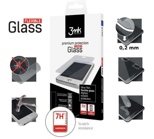 Tvrzené sklo 3mk FlexibleGlass pro Samsung Galaxy S4 ACTIVE