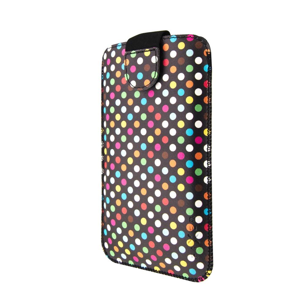 FIXED Soft Slim pouzdro velikost XXL Rainbow Dots