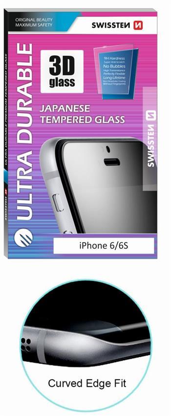 Tvrzené sklo SWISSTEN ULTRA DURABLE 3D APPLE IPHONE X/XS/11 Pro, BÍLÉ