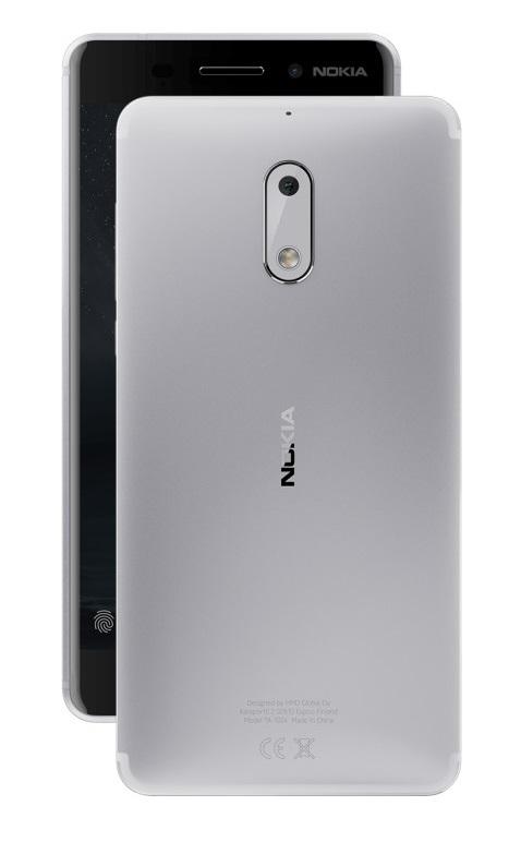 Mobilní telefon Nokia 6 Silver