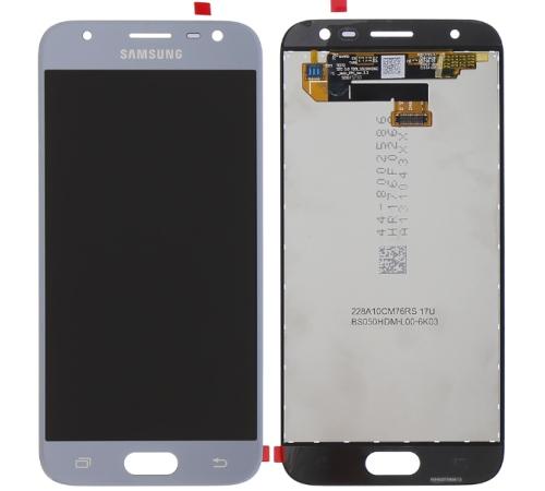 LCD + dotyk Samsung J330 Galaxy J3 2017 stříbrno-modrá
