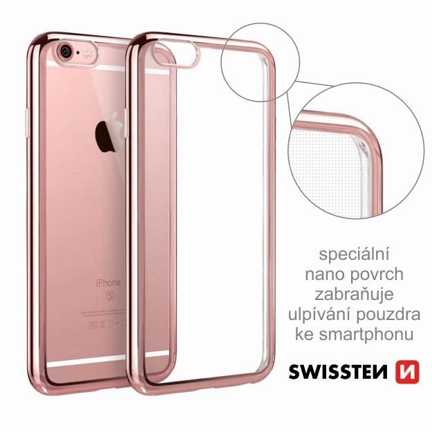 Pouzdro ELECTRO JELLY Apple Iphone X transparentní růžovo/zlaté