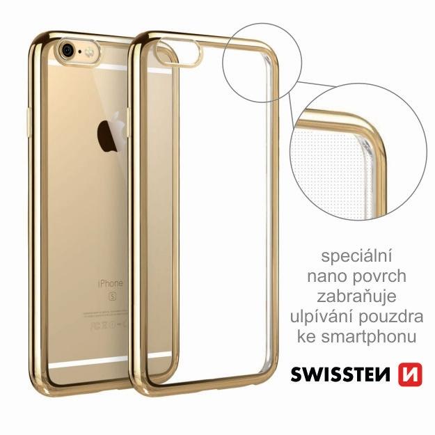 Pouzdro ELECTRO JELLY Apple Iphone X transparentní zlaté