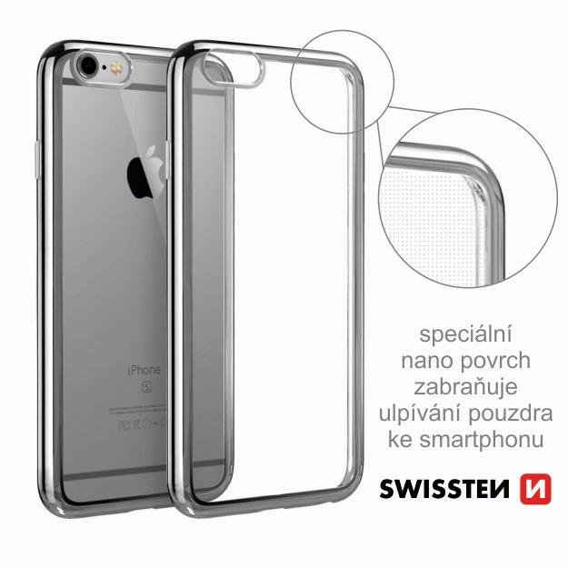 Pouzdro ELECTRO JELLY Huawei Y5 II/Y6 II Compact transparentní šedé