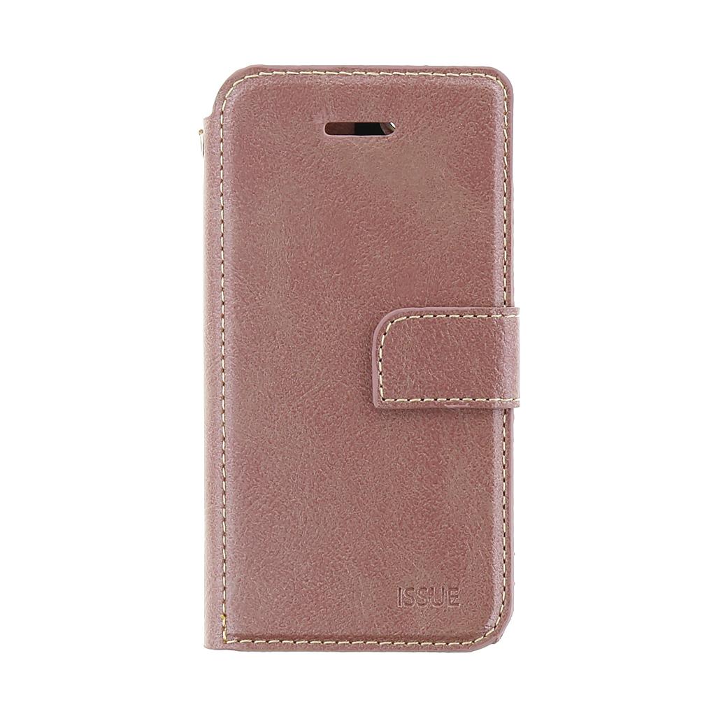 Molan Cano Issue pouzdro flip Apple iPhone 5/5s/SE rose gold