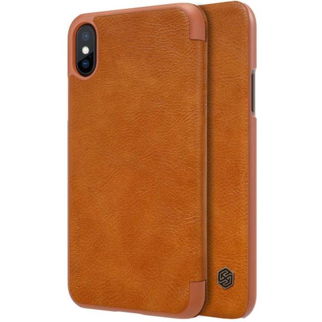 Nillkin Qin Book flipové pouzdro Apple iPhone X brown