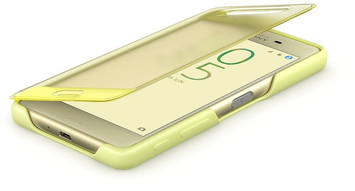 Sony Style Cover Touch pouzdro flip SCR56 Sony Xperia X Performance lime gold