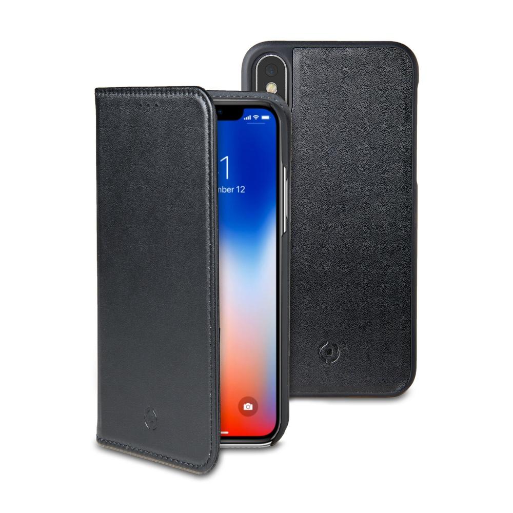 CELLY GHOSTWALLY pouzdro flip Apple iPhone X black