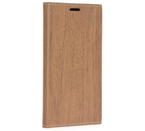 Forcell Wood flipové pouzdro Xiaomi Redmi 4A brown