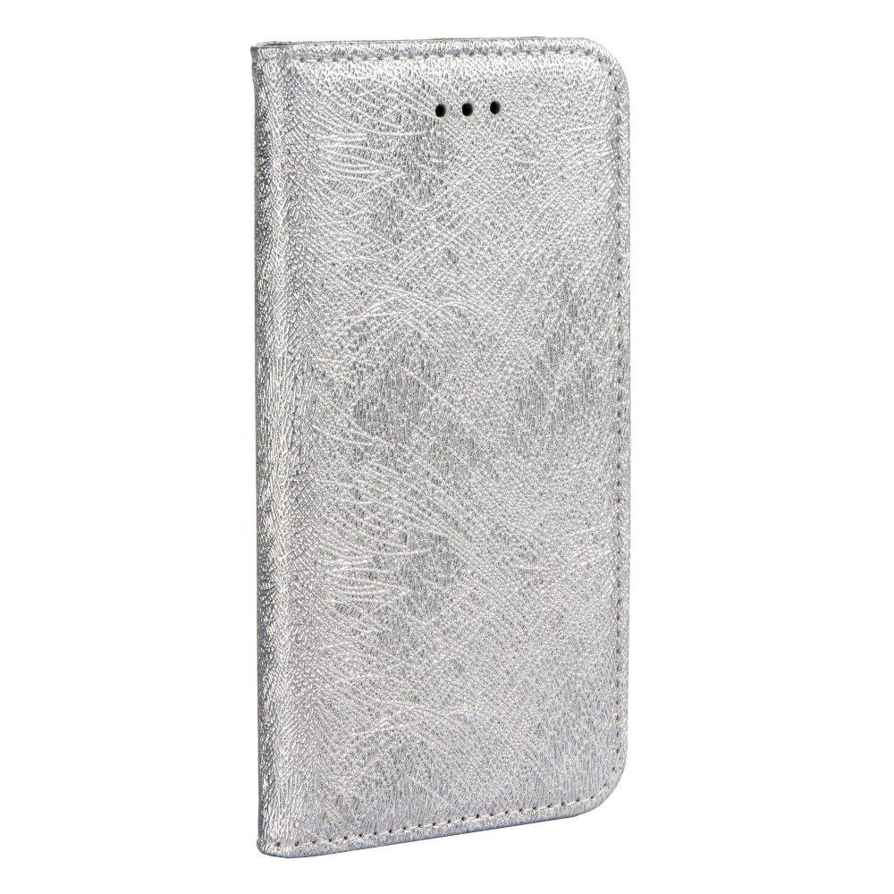 ForCell MAGIC BOOK pouzdro flip APPLE IPHONE X silver