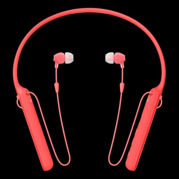 SONY WI-C400R bezdrátová sluchátka Bluetooth® a NFC red