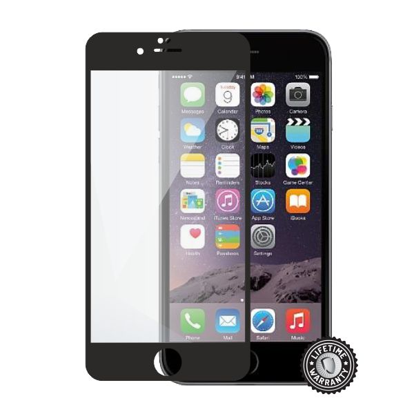 Screenshield tvrzené sklo Apple iPhone 6 Plus / 6S Plus, black full COVER