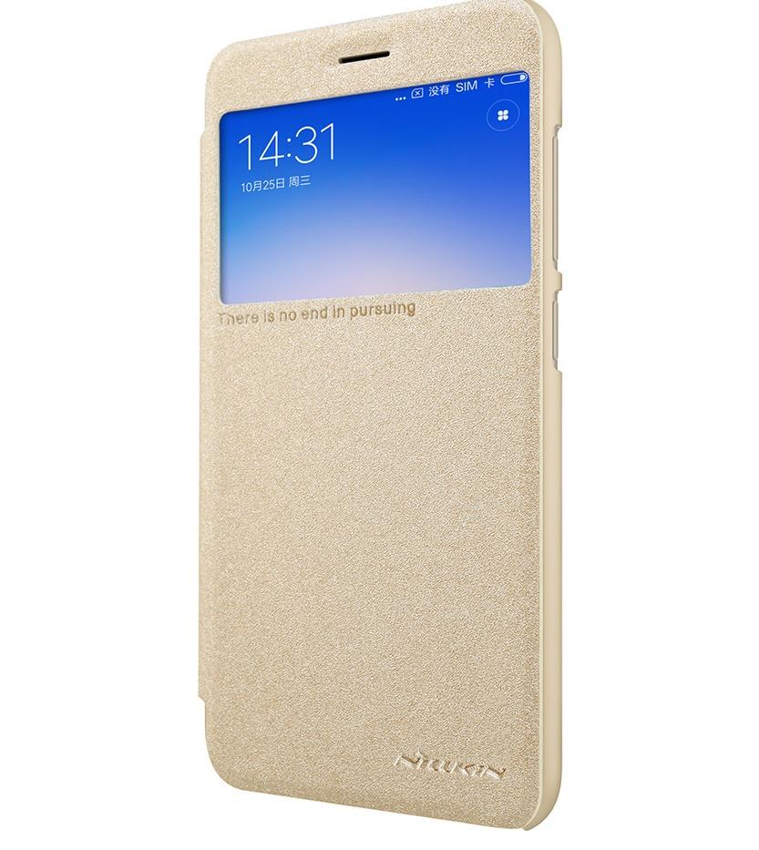Nillkin Sparkle S-View pouzdro flip Xiaomi Redmi 5A gold