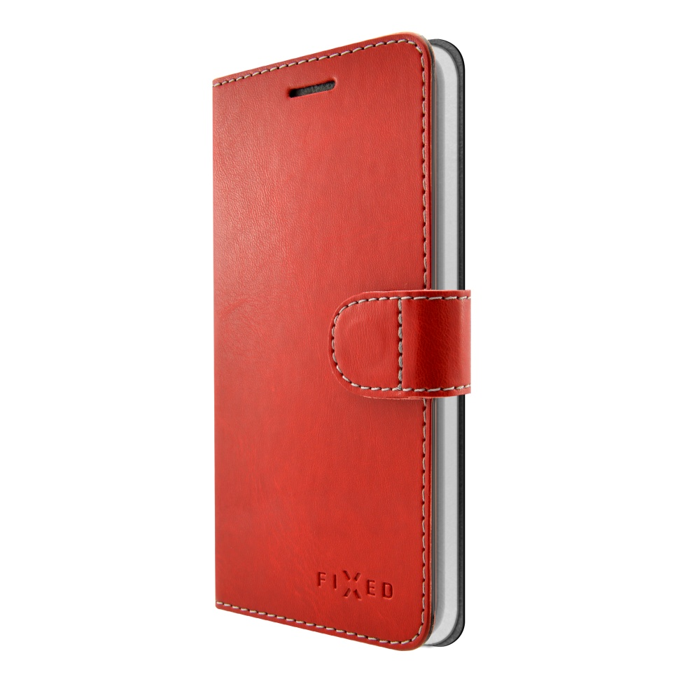 FIXED FIT flipové pouzdro pro Lenovo K8 Plus red